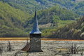 Old Church Tower In Contaminated Lake Stock Photography - 92766272