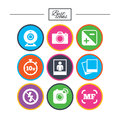Photo, Video Icons. Camera, Photos And Frame. Royalty Free Stock Photography - 92774507