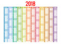 2018 Calendar. Print Template. Week Starts Sunday. Portrait Orientation. Set Of 12 Months. Planner For 2018 Year. Royalty Free Stock Photography - 92785867