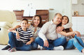Portrait Of Young Happy Family With Pretty Teenager Daughter And Stock Image - 92788081