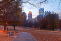 Twilight Midtown Atlanta And Oak Hill In Piedmont Park, USA Stock Image - 92795651