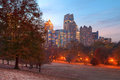Twilight Midtown Atlanta And Oak Hill In Piedmont Park, USA Royalty Free Stock Photography - 92795847