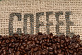Burlap And Coffee Beans Stock Image - 9289831