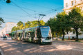 Riga, Latvia. Public Modern Tram With The Number Of The Sixth 6 Royalty Free Stock Photo - 92844495