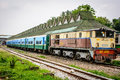 A Train At The Central Railway Station Of Yangon, Myanmar, May-2017 Royalty Free Stock Photos - 92847208