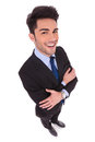 Wide Angle Picture Of A Smiling Businessman With Hands Crossed Stock Photo - 92852490