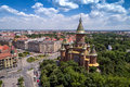 Aerial View Of Orthodox Cathedral In Timisoara Royalty Free Stock Photos - 92856048