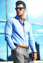 Young Stylish Handsome Model Man Stock Photos - 92859713