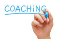 Coaching Blue Marker Stock Photos - 92865383