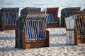White And Blue Beach Chairs On The Sand. Royalty Free Stock Photography - 92870737