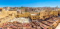 Panoramic View At The Chouwara Tannery In The Old Medina Of Fez - Morocco Royalty Free Stock Images - 92877069