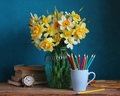 Bouquet Of Yellow Daffodils Royalty Free Stock Photo - 92911605