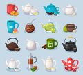 Colorful Vector Tea Icons Set Stock Image - 92920241