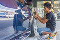 Cleaning The Car Stock Images - 92934814