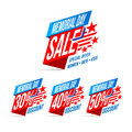 Memorial Day Sale Discount Labels Vector Illustration Stock Photography - 92936502