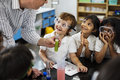 Students Learning In Science Experiment Laboratory Class Royalty Free Stock Photography - 92938217