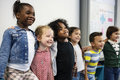 Group Of Diverse Kindergarten Students Standing Together In Clas Royalty Free Stock Photography - 92938267