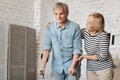 Lively Charming Senior Couple Going Through Recovery Together Royalty Free Stock Photography - 92958437