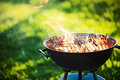 Barbecue Grill With Fire Royalty Free Stock Photos - 92968258