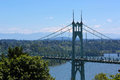 St Johns Bridge And Mount Hood Royalty Free Stock Image - 92976356