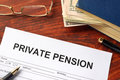 Private Pension Form. Royalty Free Stock Photography - 92984447