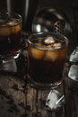 Black Russian Cocktail With Vodka And Coffee Liquor Royalty Free Stock Photo - 92986375