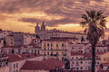 Lisbon, Portugal: Aerial View The Old Town, Alfama Royalty Free Stock Images - 92986749