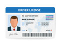 Flat Man Driver License Plastic Card Template, Id Card Vector Illustration Royalty Free Stock Photo - 92988215