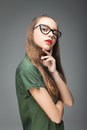 Young Cute Spectacled Girl Royalty Free Stock Images - 92990899