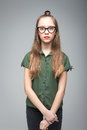 Young Spectacled Girl Royalty Free Stock Image - 92991136