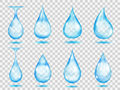 Transparent Light Blue Drops Royalty Free Stock Image - 92994786