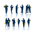 Business People Silhouettes Royalty Free Stock Images - 930799