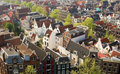 Bird View Of Central Amsterdam Royalty Free Stock Image - 9302476