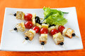 Canape With Tofu Cheese Royalty Free Stock Photography - 93000677