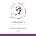 Money Financial Growth Success Business Web Banner With Copy Space Stock Photos - 93016213