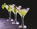 Classic Daiquiri Cocktail With Lime, Ice And Mint Stock Photo - 93029150