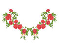 Embroidery For The Collar Line. Floral Ornament In Vintage Style Stock Image - 93079621