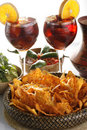 Sangria, Tortilla Chips And Mole Royalty Free Stock Image - 9319226