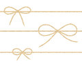 Linen String Bows Royalty Free Stock Image - 93100916