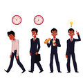Young Black, African American Businessman In Various Business Situations Stock Image - 93114851