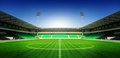 Soccer Football Stadium With Blue Sky Royalty Free Stock Photography - 93130047
