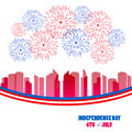 Fireworks Background For USA Independence Day. Fourth Of July Celebrate Stock Image - 93138481
