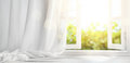 Window With Curtain Stock Image - 93144381