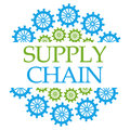 Supply Chain Green Blue Gears Circular Stock Photos - 93154693
