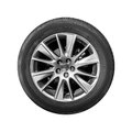 Modern Crossover Car Wheel, Front View Isolated Stock Photo - 93164600