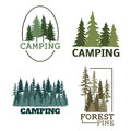 Tree Outdoor Travel Green Silhouette Forest Badge Coniferous Natural Logo Badge Tops Pine Spruce Vector. Stock Photography - 93169512