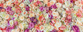Flowers Wall Background With Amazing Red And White Roses, Wedding Decoration Stock Image - 93172531