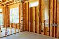 The Frame Building Or House With Basic Electrical Wiring Royalty Free Stock Image - 93184596