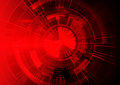 Red Technology Background, Abstract Digital Tech Circle Royalty Free Stock Photos - 93193638