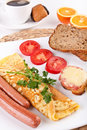 Breakfast Meal With Coffee Stock Photography - 9323132